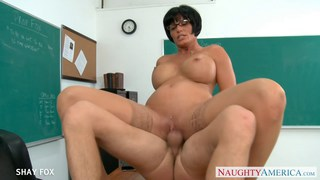MILF in glasses Shay Fox fuck in class image