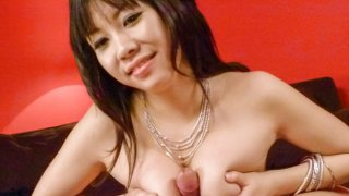 Hina Tokisaka blowing a large stiff dong for jizz image