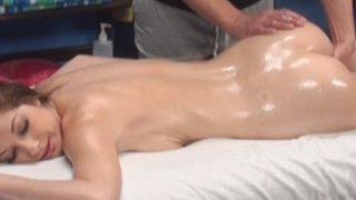Gia seduced and fucked by her massage therapist on hidden camera image