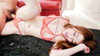 High stimulation forRei Furuse during threesome porn image