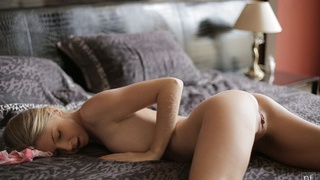 Image: Lovely Ebbi is so hot from sexting that she needs to give her small tits_a long massage and then...