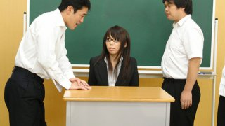 Hot teacher Maho Sawai gets rammed_at school image