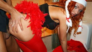 Image: Horny young hot_students celebrate Christmas