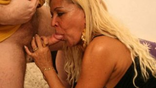 Curvy blonde MILF gets some end-to-end fucking image