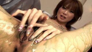Image: Rika Sakurai in group sex scene with toys/men