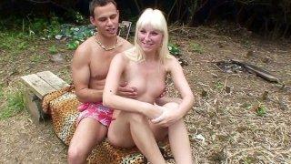 Blonde in hot reality porn scene image