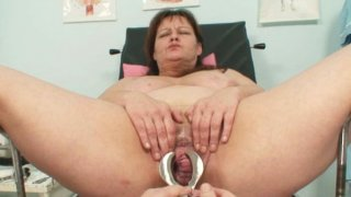 Big tits mom real gyno check up image