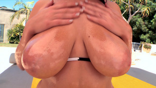 Image: Jessica Robbin gets her huge natural tits worshipped