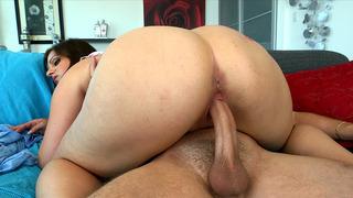 Fat ass bitch Jessica Roberts bounces on that hard prick image