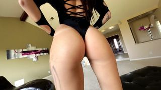 Sexy curved babe Alby Rydes solo posing and teasing image