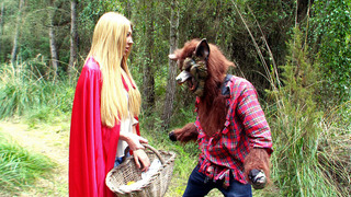 Lexi Lowe as a Little Red Riding Hood met big bad wolf image