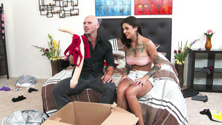 Bonnie Rotten and Johnny stumble upon his dildo collection image