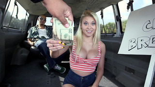Marsha May takes some cash to suck that dick in the BangBus image