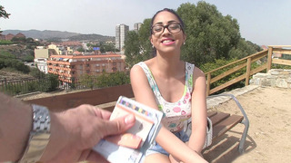 Julia De Lucia gets paid to flash her perfect tits_in public image