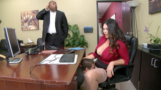 Image: Alison Tyler_has CEO's son eat her hungry pussy underneath her desk