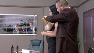 Missy Martinez gets her juicy tits oiled and licked by her_boss image