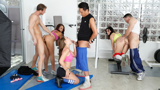 Image: hot group sex at fitness class