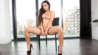 hardcore sex with busty brunette image