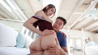 Her step bro taking care of her anal needs image