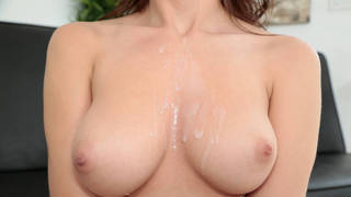 Perfect perky tits asking for cum image