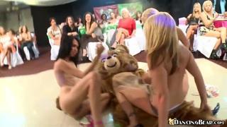 Three girls fucking dancing bear image