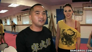 Gianna Michaels, Jessica Lynn, Nikki Rhodes have kung fu lesson image