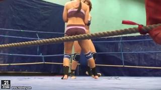 Bellina and Rihanna Samuel in hot catfight image