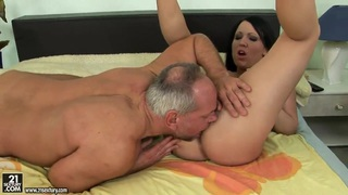 Image: Young Chanel in naughty game with older man