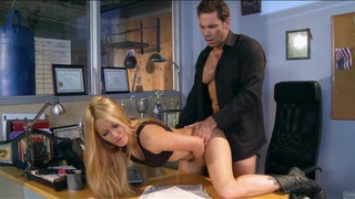 Image: Gorgeous milf in boots Jessica Drake gets slammed on a desk