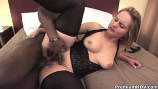 Big ass milf Magda get pleasured by black stud image