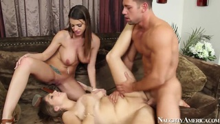 2 chicks same time, jonny has been working hard. staring alex chance,brooklyn chase and johnny castle. - chance taylor daddy image