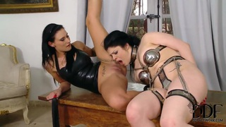 Isla and Lucia Love have hardcore sex party image