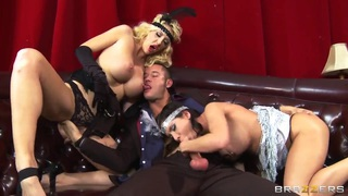 Latina Aleksa Nicole And White Courtney Taylor In A Threesome image