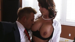 Busty professor Diamond Foxxx gives the hot fuck lesson image