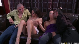 Wife swapping with busty Rachel Roxxx and Rachel Starr image