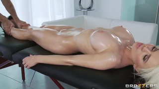 Keiran Lee's oiled massage makes Alexis Ford's pussy wet and soul happy image