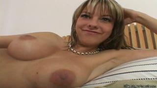 Big boobed milf Mellie is doing some masturbation image