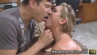 Amanda Blow and Anthony Rosano in hardcore scene image