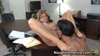 Secretary Brooklyn Lee pleasures Marco Banderas image