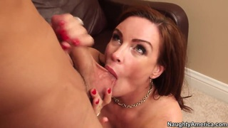 Big breasted mature mom Diamond Foxxx getting fucked from Logan Pierce image