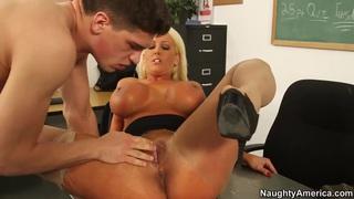 Alura Jenson seduces Bruce Venture to fuck image