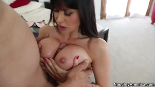 Eva Karera with her big boobs sucking and fucking with_a handsome guy image