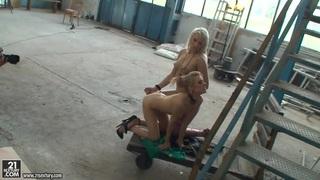 Michelle Moist and Viktoriah in hot femdom scene image