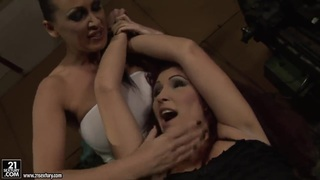 Image: BDSM lesbian action with Mandy Bright and Pop Anca