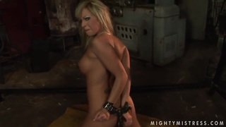 This two blonde girlfriends Adriana Russo and Lee Lexxus are demonstrating the naughtiest femdom video. image