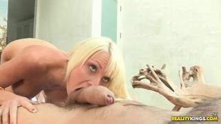 Manuel Ferrara and Rikki Six having hot sex in the swimming pool image