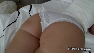Image: Big booty_brunette babe fucks_and sucks pov