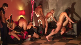 Adel & Alon & Anette Dawn & Julia Crow & Zanna in sex party showing a lustful group sex adventure image