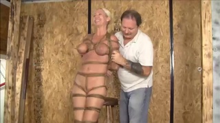 Image: Hogtied And Suspended Live
