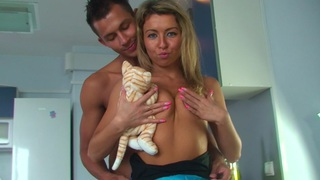 Image: Betsy & Kiki & Sweety & Tess in hot college sex scene with two guys and a chick